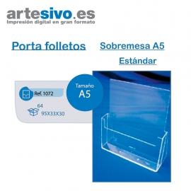 PORTAFOLLETOS METACRILATO SOBREMESA A5 - ESTANDAR