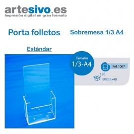 PORTAFOLLETOS METACRILATO SOBREMESA 1/3 DE A4 - ESTANDAR