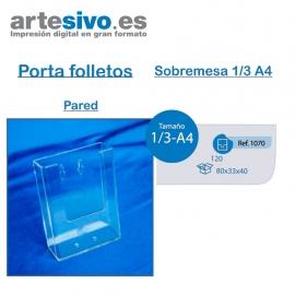 PORTAFOLLETOS METACRILATO SOBREMESA 1/3 DE A4 - PARED