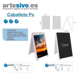 CABALLETE PVC - ACABADO NORMAL CON ASA O ACABADO PIZARRA