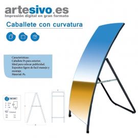 CABALLETE DE HIERRO CON CURVATURA ALTURA 140 CM
