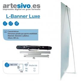 L-BANNER DE LUXE APORTA GRAN ESTABILIDAD 100 X 200 CM