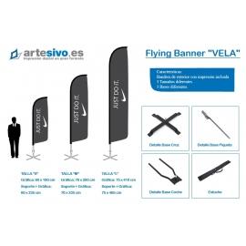BANDERAS / FLYING BANNER CON FORMA DE VELA - VARIAS ALTURAS Y ANCHOS