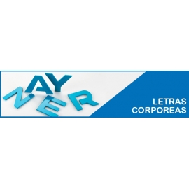 LETRAS CORPÓREAS 3D