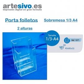 PORTAFOLLETOS METACRILATO SOBREMESA 1/3 DE A4 - 2 ALTURAS