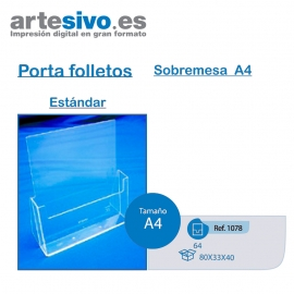 PORTAFOLLETOS METACRILATO SOBREMESA A4 - ESTANDAR