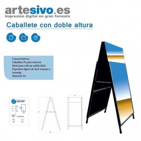 CABALLETE DE HIERRO CON CARTELA SUPERIOR ALTURA 125 CM