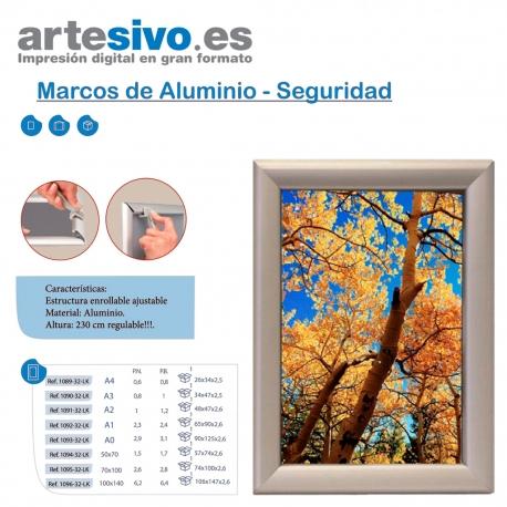 MARCO ALUMINIO DE SEGURIDAD - VARIAS MEDIDAS - Artesivo.es