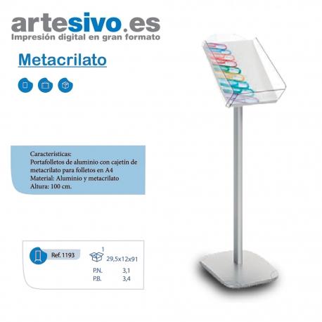 PORTAFOLLETOS METACRILATO CAJETIN A4 - ALTO 100 CM