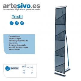 PORTAFOLLETOS DESMONTABLE TEXTIL - TAMAÑO A4 - ALTO 150