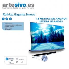 ROLL UPS / ENROLLABLES GIGANTES TANTO EN ALTURA COMO EN ANCHURA VARIAS MEDIDAS