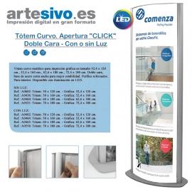 """TÓTEM CURVO APERTURA CLICK""""- DOBLE CARA - CON O SIN LUZ"""""""