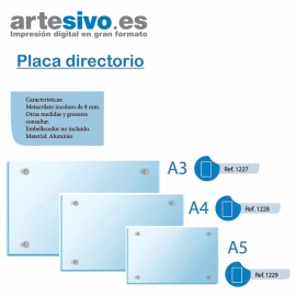 PLACA DIRECTORIO METACRILATO 8 MM GROSOR
