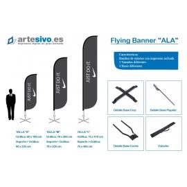 BANDERAS / FLYING BANNER CON FORMA DE ALA - VARIAS ALTURAS Y ANCHOS