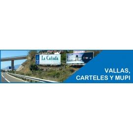 IMPRESIÓN DE PAPEL, VALLAS, MUPIS Y SINTÉTICOS